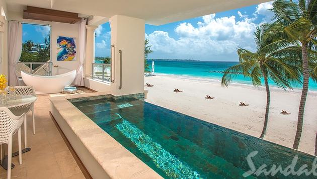Sandals Royal Barbados: Beachfront Skypool Butler Suite with $1,000 Instant Credit
