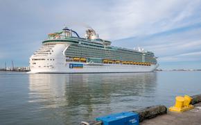 Royal Caribbean ship departing the Port of Galveston