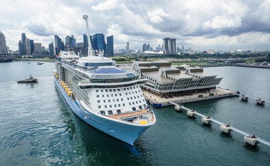Quantum of the Seas at Marina Bay Cruise Center in Singapore.