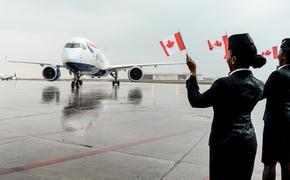 British Airways A350 Lands in Toronto