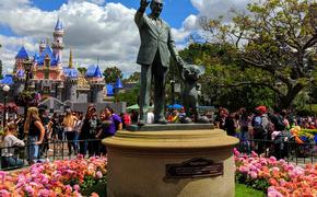 Partners Statue in front of the recently rehabbed Sleeping Beauty's Castle