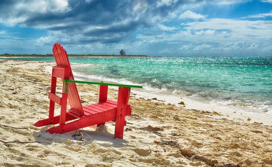 Beach chair on Anegada