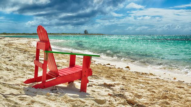 Beach chair on Anegada