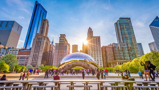 Cloud Gate in Chicago, Illinois (Photo via Sean Pavone / iStock Editorial / Getty Images Plus)