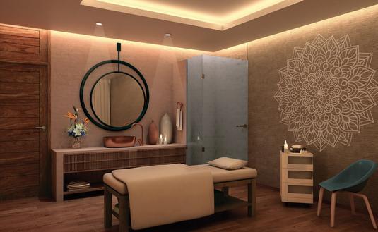 A spa cabin at Dreams Acapulco Resort & Spa