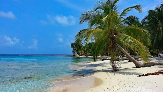 A secluded beach in Panama
