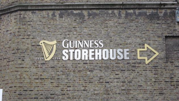 Marking the way to the Guinness Storehouse in Dublin, Ireland