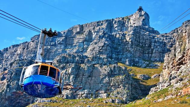 Table Mountain cable car in Cape Town, South Africa