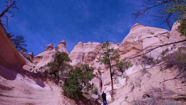 Hiking Kasha-Katuwe Tent Rocks National Monument, New Mexico