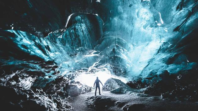 Crystal Ice Cave, 2016, Iceland.