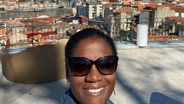 Travel writer Heather Greenwood Davis in Portugal