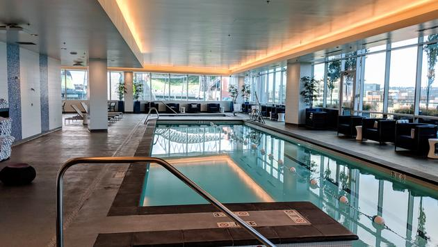 Indoor Pool at Embassy Suites by Hilton in Downtown Seattle at Pioneer Square