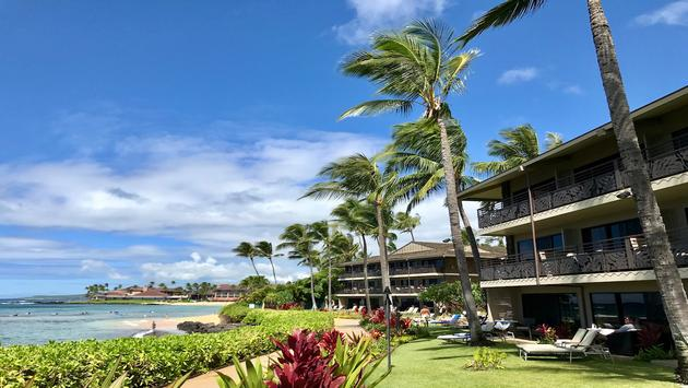 Ko'a Kea Resort fronts Kaua'i's Poipu Beach
