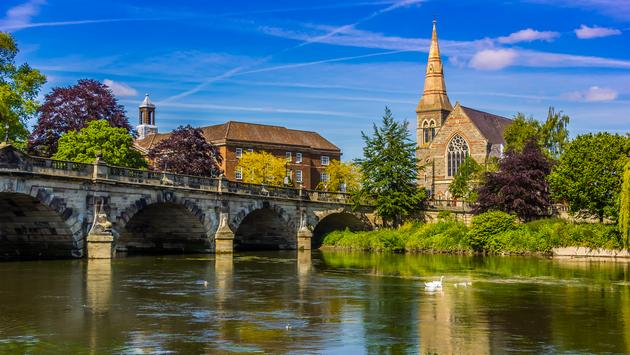 Shrewsbury, medieval town, UK, bridge