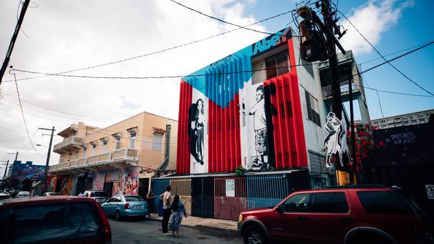 graffiti, puerto rico, flag, santurce, san juan