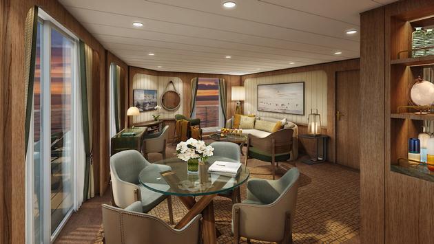Seabourn's Signature Suite Living Room