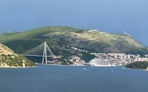 A Carnival cruise ship at the Port of Dubrovnik