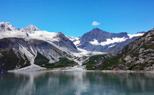 Glaciers and mountains in Glacier Bay, Alaska