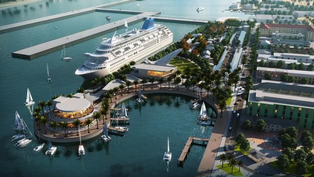 This rendering shows what the Nassau Cruise Port will look like after a $300 million modernization project is complete.