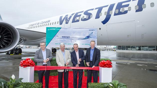 WestJet Welcomes Boeing 787