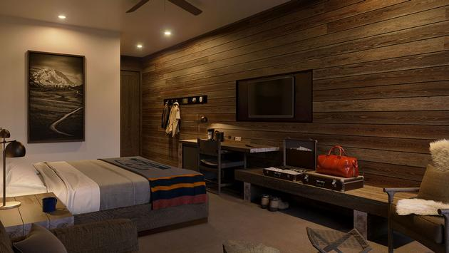 Rendering of the new junior suite at the McKinley Chalet Resort