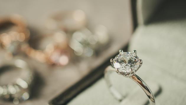close up shot of an Engagement ring