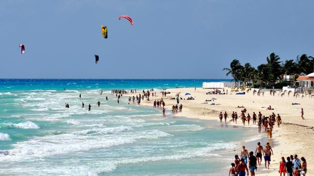 The Playa del Carmen shoreline
