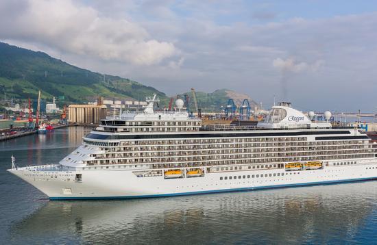 Regent Seven Seas Cruises' Seven Seas Explorer in Bilbao, Spain
