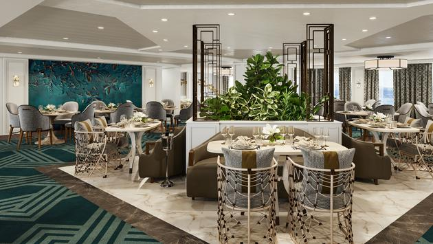Dining room on American Cruise Lines' modern riverboats