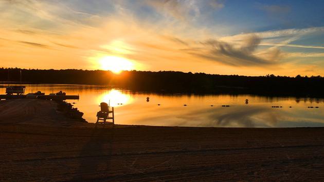 Poconos, Sunset, Pennsylvania, beach