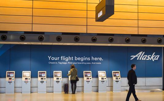 Alaska Airlines airport kiosks
