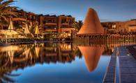 Sandos, resort, night, pool, reflection