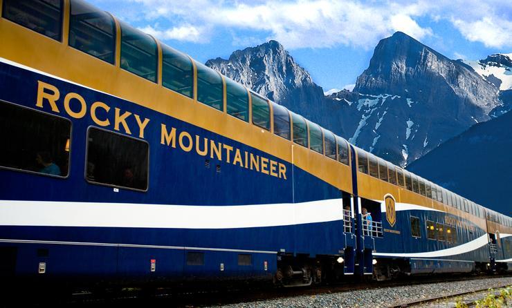 luxury train tours through Rocky Mountains in Canada