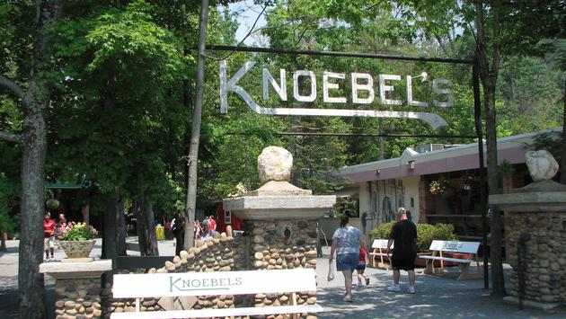 Sign at Knoebels theme park in Pennsylvania