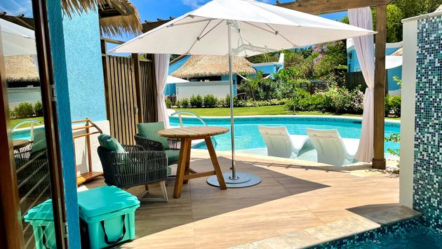 Secluded outdoor area