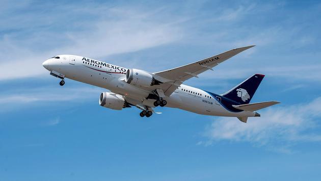 Boeing 787-8 de Aeroméxico despegando de la Ciudad de México. (Foto de Aeroméxico)