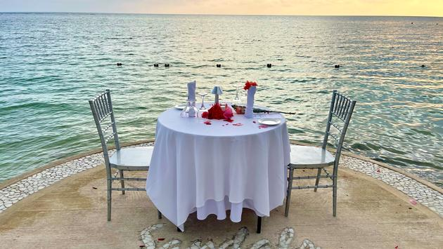 Candlelight dinner for two at Sandals South Coast