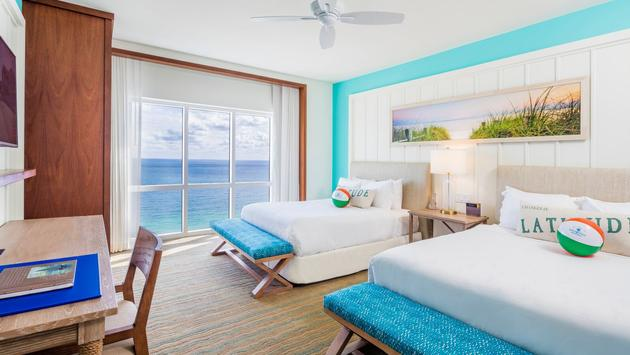 Double Queen guestroom at Margaritaville Hollywood Beach Resort