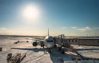 snow, plane, winter