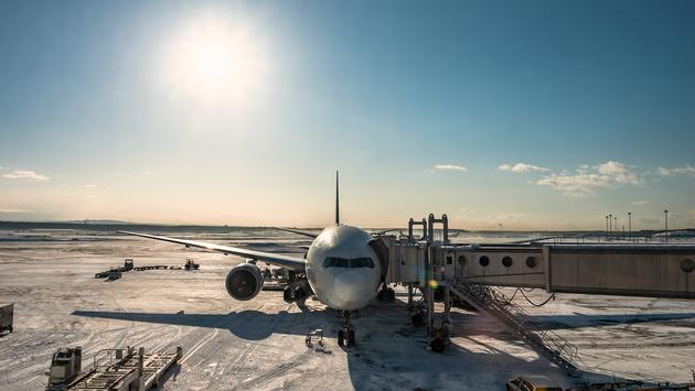 snow, plane, winter