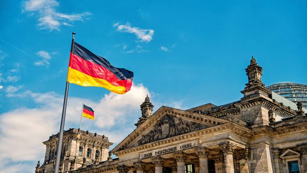 Reichstag building in Berlin, seat of the German Parliament.