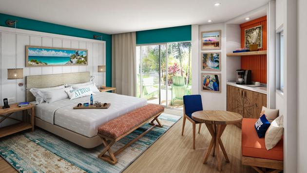 Paradise Room at the new Margaritaville Island Reserve by Karisma Riviera Cancún, Mexico.