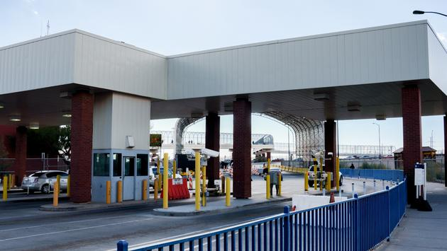 The United States and Mexico Border crossing.
