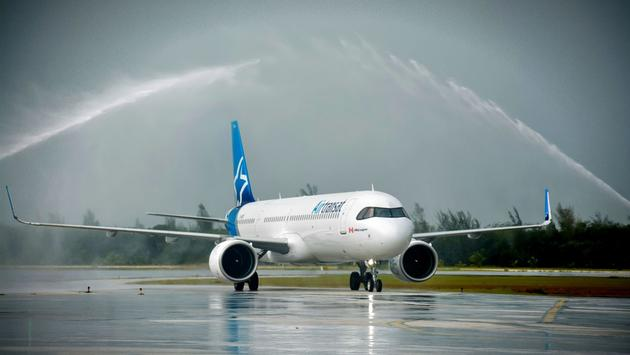 Air Transat Welcomed to Holguin, Cuba, Nov. 3, 2020