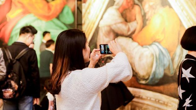 Visitors to Michelangelo' Sistine Chapel Exhibition