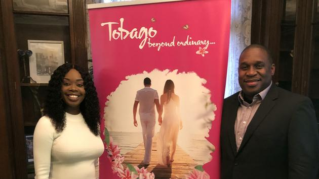 Nadine Stewart-Phillips Minister of Tourism and Culture and Louis Lewis CEO of the Tobago Tourism Agency