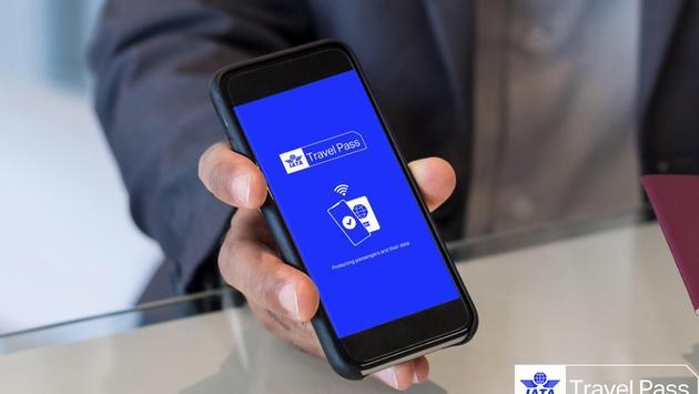 Aplicación electrónica Travel Pass de IATA para dispositivos móviles.