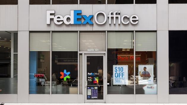 FedEx Office location in downtown Houston, Texas