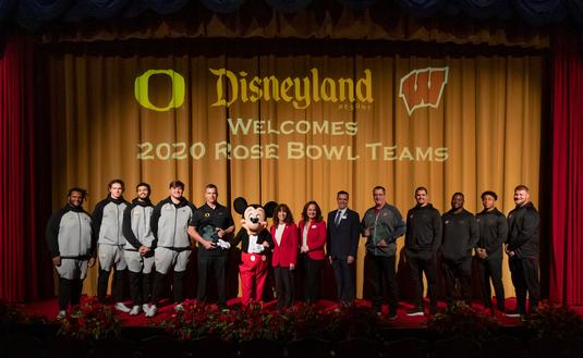 2020 Rose Bowl Teams Stay at Disneyland Resort
