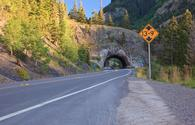 A tunnel over Colorado's Million Dollar Highway